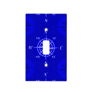 Nautical Compass Rose Light Switch Cover