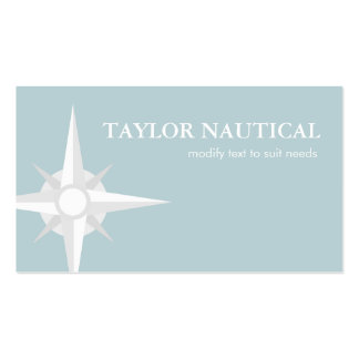 Nautical Compass Sailing and Boating Business Card