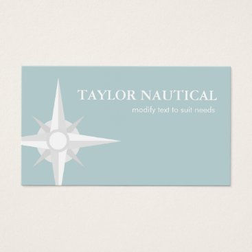 Bride Themed Nautical Compass Sailing and Boating Business Card