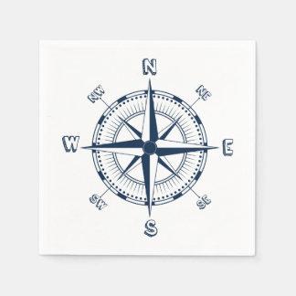 Nautical Compass Paper Napkins
