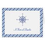 Nautical Compass Thank You Card