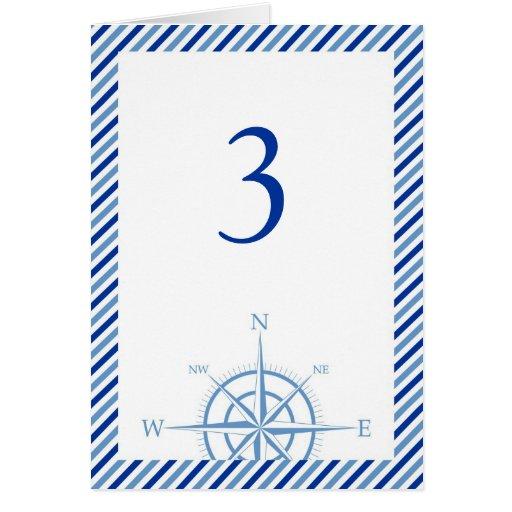 Nautical Compass Wedding Table Card