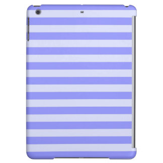 Nautical Conflower Blue and Pastel Blue Stripes iPad Air Cases