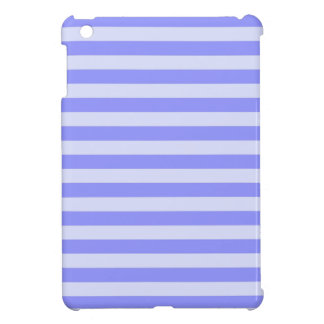 Nautical Conflower Blue and Pastel Blue Stripes iPad Mini Cases