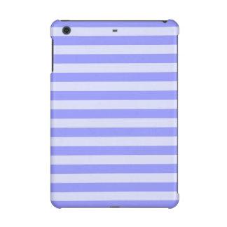 Nautical Conflower Blue and Pastel Blue Stripes iPad Mini Retina Cases