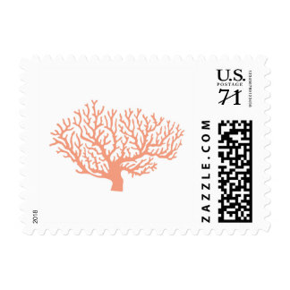 Nautical coral postage stamp