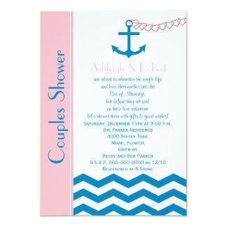 Nautical Couples Coed Wedding Shower Invitation Personalized Invites