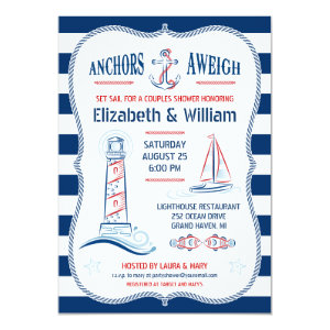 Nautical Couples Shower Invitation 5