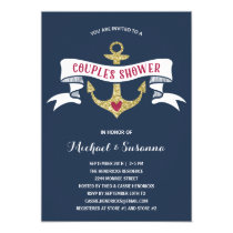 Nautical Couples Wedding Shower Invitation