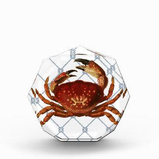 Nautical Crab Acrylic Award