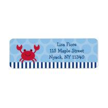 Nautical Crab Address Labels