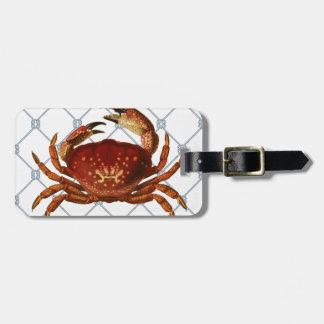 Nautical Crab Bag Tag