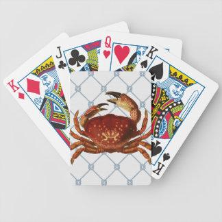 Nautical Crab Bicycle Playing Cards