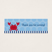 Nautical Crab Goodie Bag Tags Gift Tags