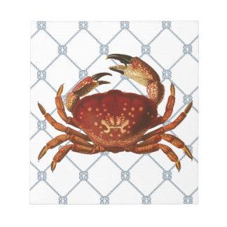 Nautical Crab Memo Note Pad