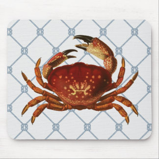 Nautical Crab Mouse Pad