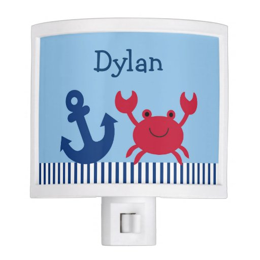 Nautical Crab Night Light