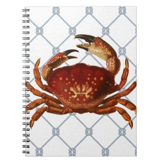 Nautical Crab Notebook