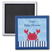 Nautical Crab Party Favor Magnets