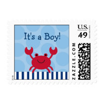 Nautical Crab Personalized Postage Stamps