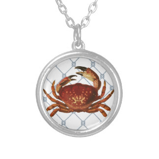 Nautical Crab Silver Plated Necklace