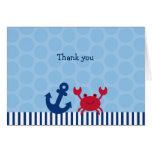 Nautical Crab Thank You Note Cards