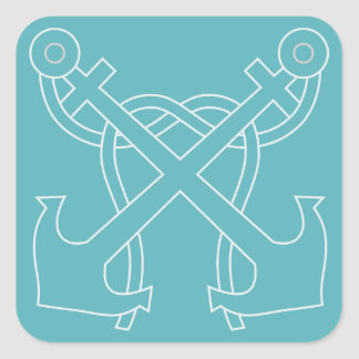 Nautical Crossed Anchor Stickers