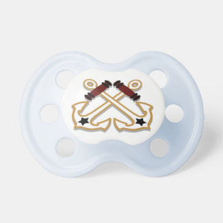 Nautical Crossed Anchors Baby Pacifiers