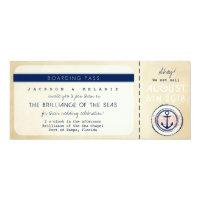 Nautical Cruise Ship Boarding Pass Wedding Invite (<em>$2.46</em>)