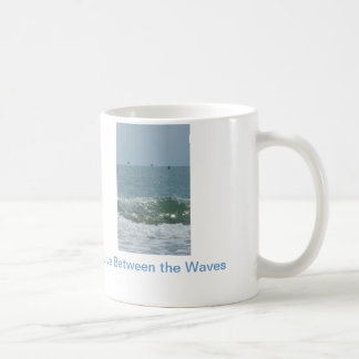 "Nautical cup ""Live Between the Waves"" Classic White Coffee Mug"