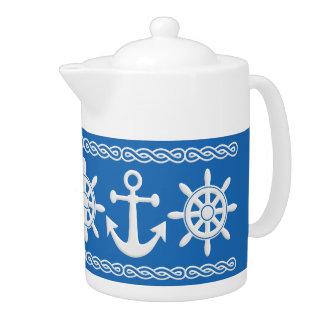 Nautical custom teapot