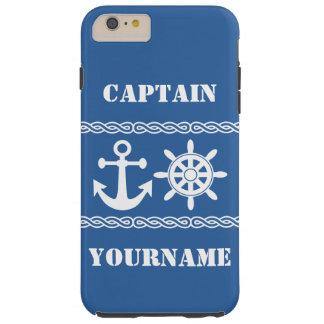 Nautical custom text & color cases tough iPhone 6 plus case