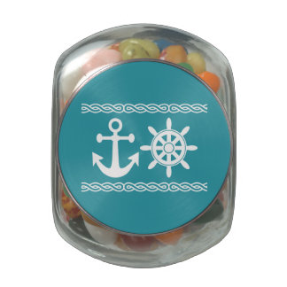 Nautical custom tins & jars glass jars