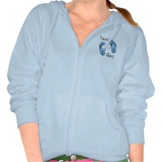 Nautical Cute Flip Flop Nauti Girl Blue Hoodie