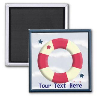 Nautical Cute Lifesaver Design Magnet