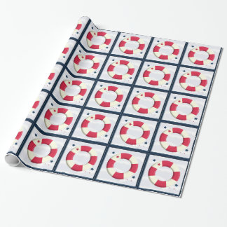 Nautical Cute Lifesaver Design Wrap Gift Wrapping Paper