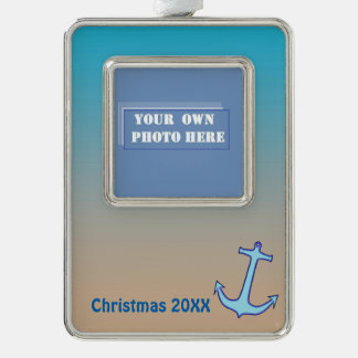 Nautical Dated Photo Ornament