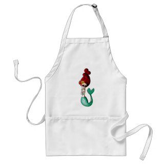 Nautical Day of The Dead - Mermaid Adult Apron