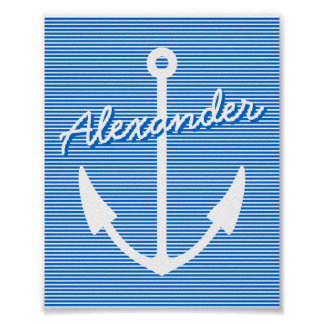 Nautical decor wall poster | personalizable anchor