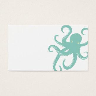 Nautical Deep Sea Octopus Creature Illustration Business Card