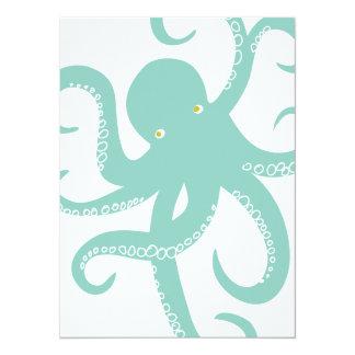 Nautical Deep Sea Octopus Creature Illustration Card