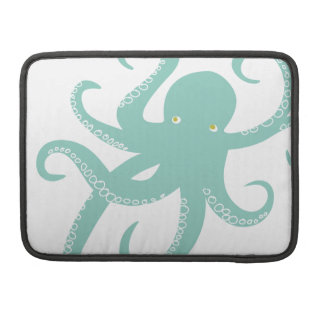 Nautical Deep Sea Octopus Creature Illustration Sleeve For MacBook Pro