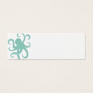 Nautical Deep Sea Octopus Creature Illustration Mini Business Card