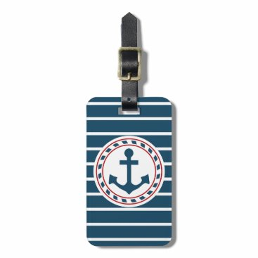 Nautical design bag tag