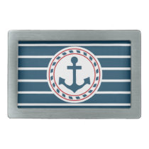 Nautical design belt buckle