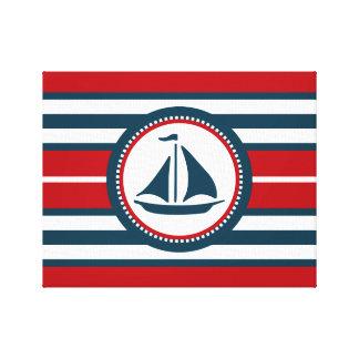 Nautical design canvas print