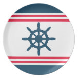 Nautical design dinner plate
