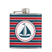 Nautical design flask