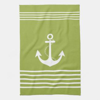 Nautical Design Green Towel