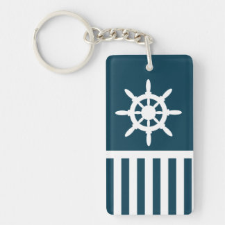 Nautical design keychain